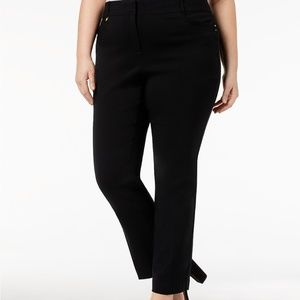 Petite Plus Size Tummy Control Curvy-Fit Pants